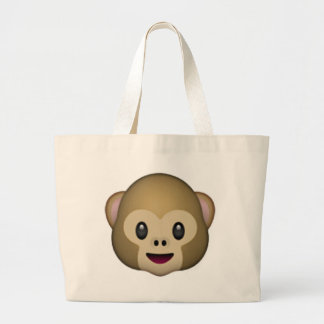 Visage de singe - Emoji Grand Sac