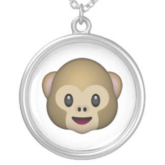 Visage de singe - Emoji Pendentif Rond
