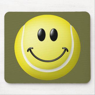 Visage de smiley de balle de tennis tapis de souris