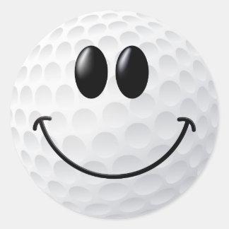 Visage de smiley de boule de golf