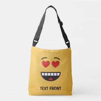 Visage de sourire avec les yeux en forme de coeur sac ajustable