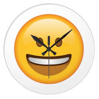 Visage de sourire - Emoji Grande Horloge Ronde