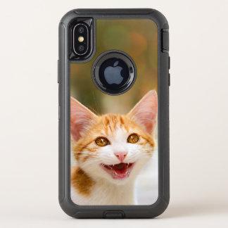 Visage de sourire mignon de chaton - photo drôle