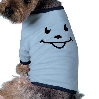 Visage de sourire très drôle vêtement pour animal domestique