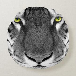 Visage de tigre - tigre blanc - tigre de yeux - coussins ronds