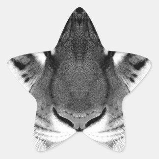 Visage de tigre - tigre blanc - tigre de yeux - sticker étoile