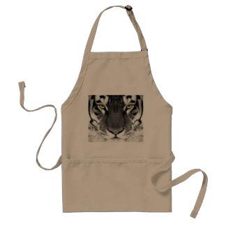 Visage de tigre - tigre blanc - tigre de yeux - tablier