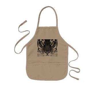Visage de tigre - tigre blanc - tigre de yeux - tablier enfant