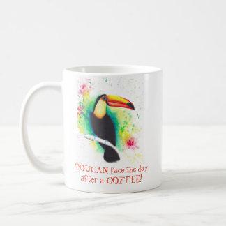Visage de toucan le jour après une tasse de café