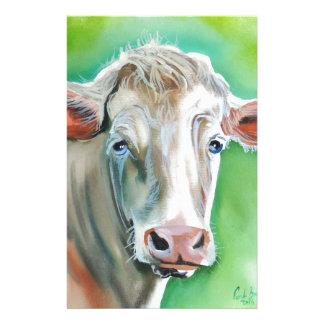 Visage de vache papier à lettre