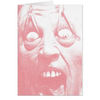 Visage de zombi de carte de voeux de Halloween