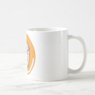 Visage d'homme d'affaires mug blanc