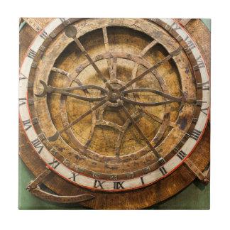Visage d'horloge antique, Allemagne Carreau