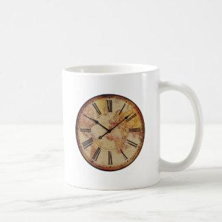 Visage d'horloge antique du monde mugs à café