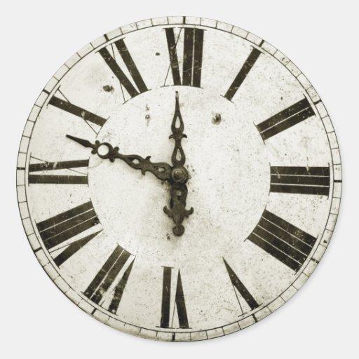 Visage d'horloge adhésifs ronds