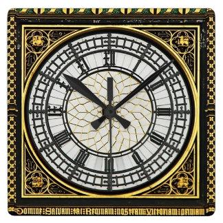 Visage d'horloge de Big Ben Horloge Carrée