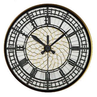 Visage d'horloge de Londres Big Ben Grande Horloge Ronde