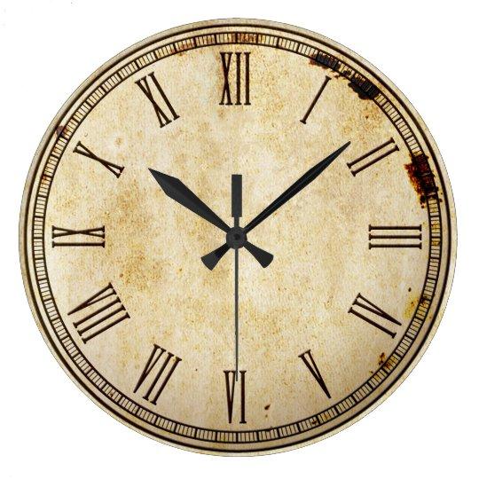 visage d 39 horloge vintage rustique de chiffre grande. Black Bedroom Furniture Sets. Home Design Ideas