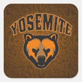 Visage d'ours de Yosemite Sticker Carré