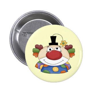Visage doux de clown badge rond 5 cm
