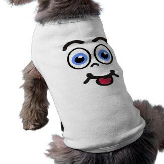 Visage drôle #1 de chemises d'animal familier t-shirt pour chien