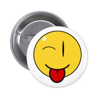 Visage drôle, bouton pin's