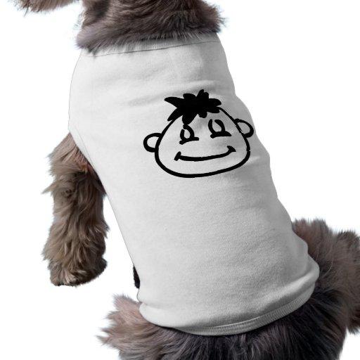 Visage drôle de bande dessinée manteaux pour chien
