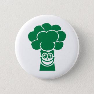 Visage drôle de brocoli badge