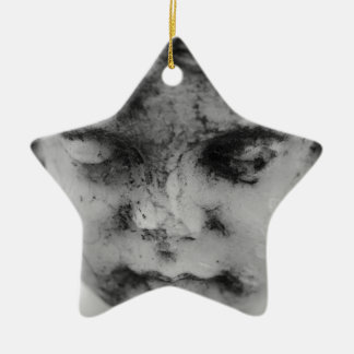 Visage d'un ange ornement étoile en céramique