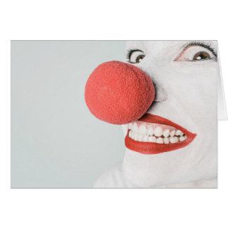 Visage effrayant de clown - carte de voeux vierge