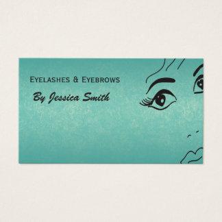 Visage élégant fascinant turquoise de fille de cartes de visite