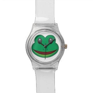 Visage Emoji de grenouille Montre