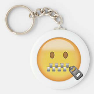 Visage Emoji de Tirette-Bouche Porte-clés