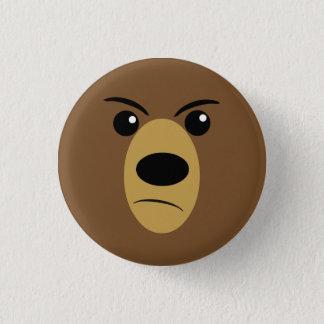 Visage fâché d'ours badge