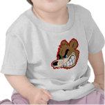 visage fâché d'ours de grognement t-shirt
