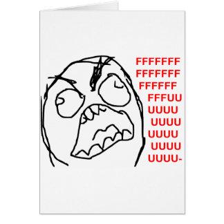 Visage fâché Meme de rage de Fuu Fuuu de type de r Carte