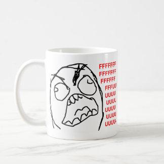 Visage fâché Meme de rage de Fuu Fuuu de type de r Tasses À Café