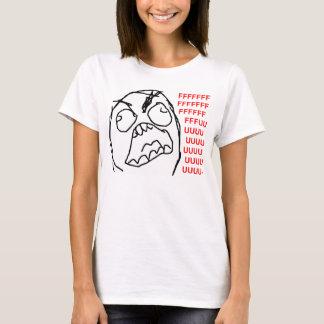 Visage fâché Meme de rage de Fuu Fuuu de type de T-shirt