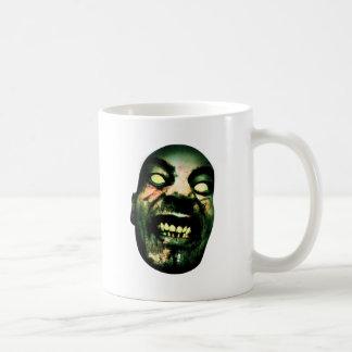 Visage fou d'homme de zombi mug blanc