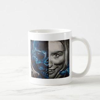 Visage graphique mug blanc