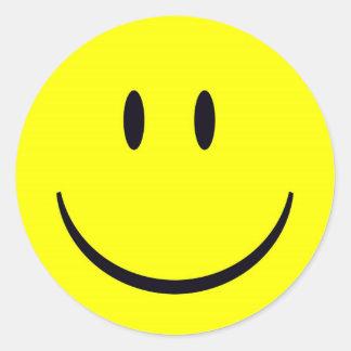 visage heureux adhésifs ronds