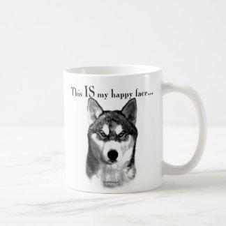 Visage heureux de chien de traîneau sibérien mug