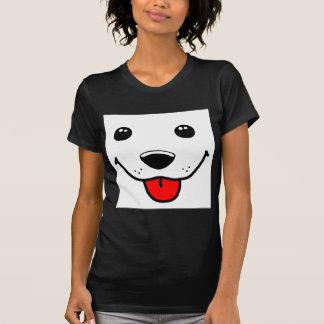 Visage heureux de chiot t-shirt