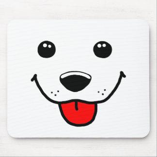 Visage heureux de chiot tapis de souris