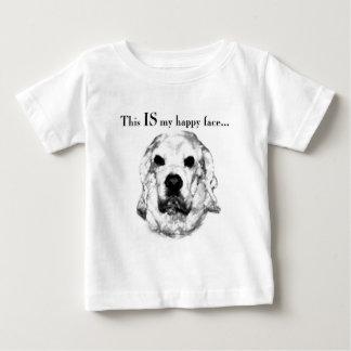 Visage heureux de cocker t-shirt pour bébé