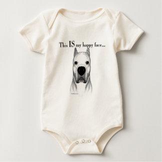 Visage heureux de Dogo Argentino Body