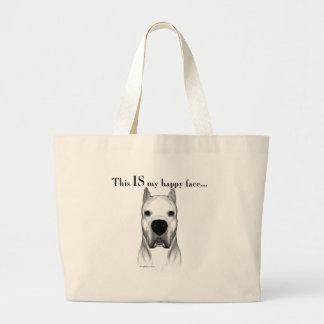 Visage heureux de Dogo Argentino Grand Tote Bag