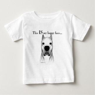 Visage heureux de Dogo Argentino T-shirt Pour Bébé