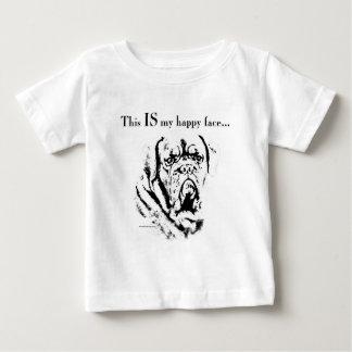 Visage heureux de Dogue T-shirt Pour Bébé