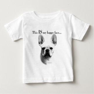 Visage heureux de Frenchie T-shirt Pour Bébé